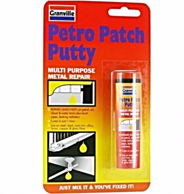 Granville Petro Patch Putty Water Fuel Tanks Metal Repair Gearbox Crank Case 50 grams